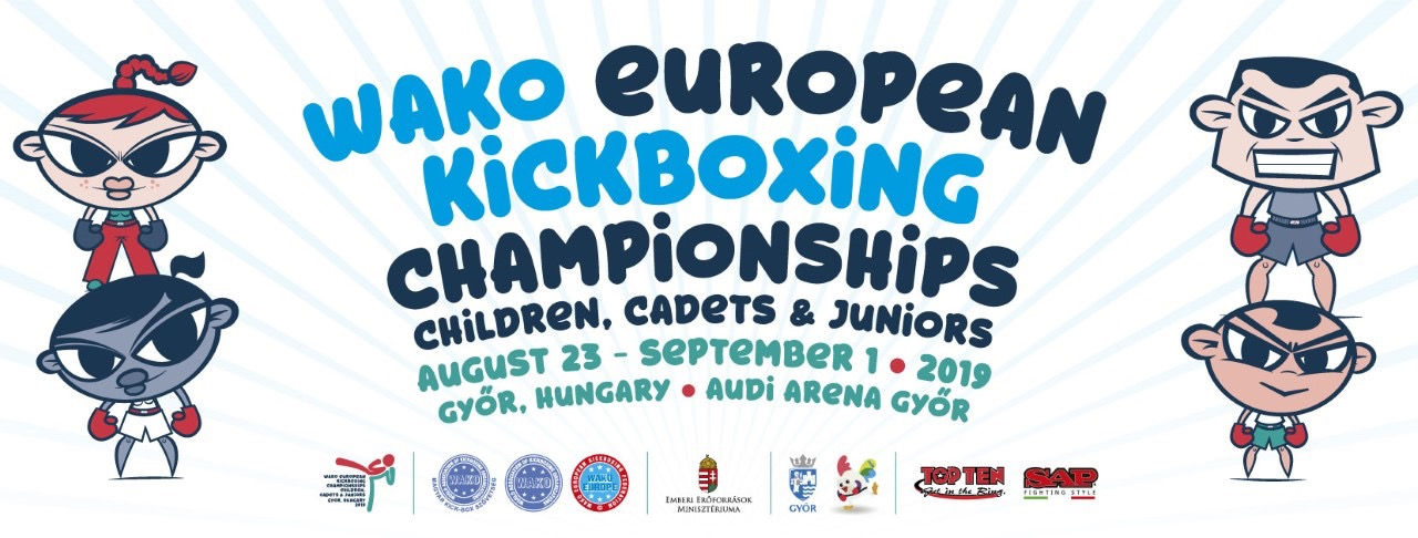 WAKO Children Cadets and Juniors European Championships poster