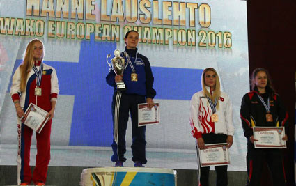 Hanne Lauslehto Finland best female fighter